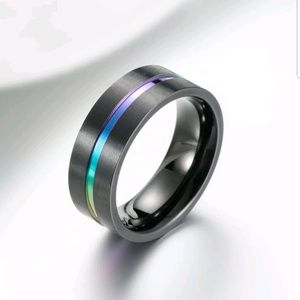 Men&Women Stainless Steel Titanium Band Ring